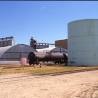 Clean grain storage quonsets and oil holding tanks, Nipawin CSP