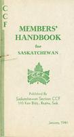 CCF Members' Handbook for Saskatchewan