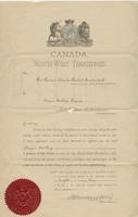 Appointment of Angus McKay as Justice of the Peace for the North-West Territories 1897