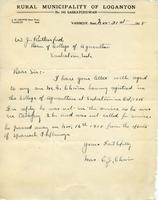 Dean Rutherford's Correspondence (Chism) Nov 21, 1918