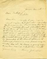 Dean Rutherford's Correspondence Johnston Dec 10