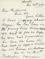 Dean Rutherford's Correspondence Dec 12