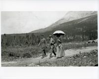An officer, a gentleman, and a lady at Banff National Park