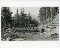 Construction at Mt. Revelstoke camp