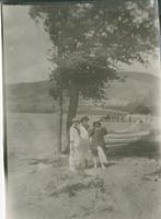 [Three women by a lake]