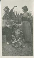 [Three women in kimonos]