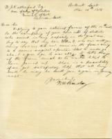 Beesley Letter, Nov. 26, 1918