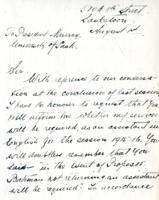 Correspondence with William Y. Hunter