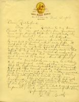 Dean Rutherford Correspondence: Ernest G. Booth, Nov. 15. 1918